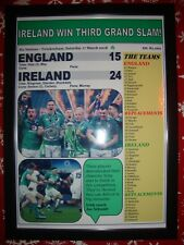 England 15 Ireland 24 - 2018 Six Nations Grand Slam - framed print