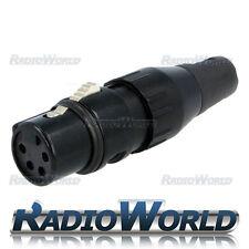 DELTRON 708-0400 XLR 4 Pin Dritto Donna Pole presa 2.8 ÷ 8mm
