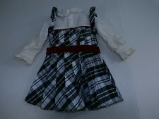 American Girl Nellie Holiday Outfit Dress Retired Classic Black White Plaid