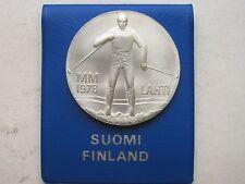 Finland  Silver 25 Markkaa 1978 Winter Games in Lahti Unc Original Packing COA