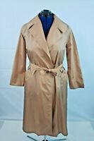 Vtg Aqua Sheer women's Belted Pouch Lightweight Beige Raincoat size small M100