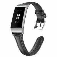 Leder Band Armband Uhrenarmband Wriststrap für Fitbit Charge 3 Activity Tracker