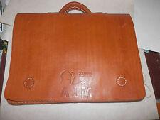 cartable serviette sacoche à bandoulière en cuir neuf aim 2009 10/12juin