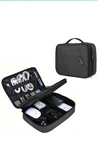 """BAGSMART 2-Layer Travel Electronic Cable Organizer Cases for 10.5"""" iPad, Cables,"""