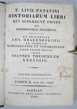 LIVIUS: HISTORIAE, LIBRI VII - XXIII, Tauchnitz 1829, Halbleder, Duodez, Latein