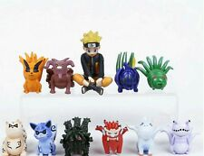 NARUTO SHIPPUDEN/ SET 10 PCS 4-7 CM- NARUTO WITH 9 FIGURES IN BOX