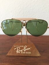 Vintage Ray Ban Bausch and Lomb USA 1/30 10k GO Green RB3 Sunglasses 62mm