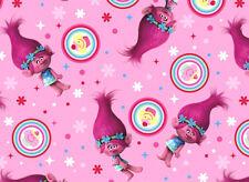 TROLLS  DREAMWORKS TROLL POPPY CUPCAKE TOSS 100% COTTON FABRIC QUILTING  YARDAGE