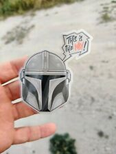 Pegatina  star wars THE MANDALORIAN Sticker 7x8cm