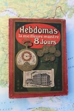 Antique Hebdomas 8 JOURS DAYS pocket watch parts box colectible rare unsual