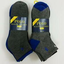 Polo Ralph Lauren 8 Pairs (Two 4-Packs) Gray Black Blue 10-13