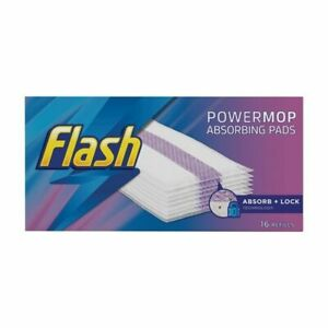 Flash Power Mop Absorbent Pads Refill 16 Pack