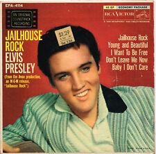 """ELVIS PRESLEY jailhouse rock U.S. RCA 7"""" E.P. EPA-4114_1957 original 5 track"""