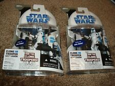 """STAR WARS 2007"""" 2 CLONE TROOPERS 501ST LEGION""""THE CLONE WARS(ONLY AT WALMART)"""