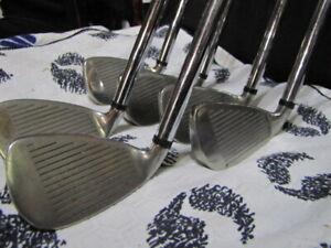 Wilson Fat Shaft Iron set True Temper FatShaft steel R flex shaft Wilson grip RH
