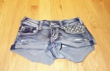 Almost Famous size 0 distressed jean shorts