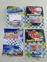 Matchbox & Racing Champions 1:64 NASCAR Lot Of  4 Die Cast Diecast Vintage B6