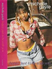 Michelle Gayle ‎Happy Just To Be With You CASSETTE SINGLE House RnB/Swing Funk