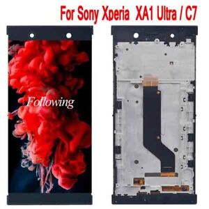 LCD Display and Touch Screen Digitizer +Frame for Black Sony Xperia C7 XA1 Ultra