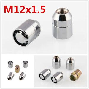 4Pcs Alloy Steel  Wheel Nut M12x1.5 Anti Theft Security Locks +1Pcs Key For Car