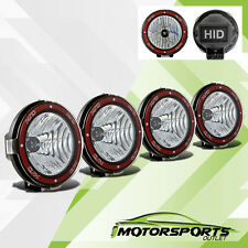 4 PCS Universal 7 inches Built-in 6000K HID 4x4 OffRoad Fog Lights for SUV/Truck