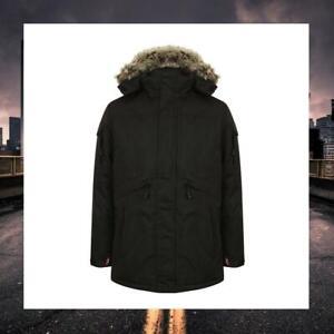Men Tokyo Laundry  Parka Faux Fur Trim Hood - 1J9874