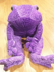 Animal Alley Plush purple violet Toad Frog stuffed animal Commonwealth toy 2000