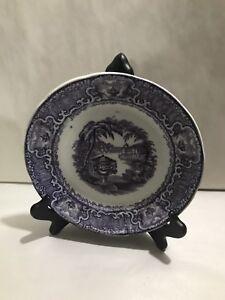 RARE Mulberry Washington Vase PURPLE Transferware Plate Podmore Walker Co 1840