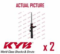 2 x FRONT AXLE SHOCK ABSORBERS PAIR STRUTS SHOCKERS KYB OE QUALITY 333839