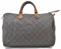 Authentic Louis Vuitton Monogram Speedy35 Hand Bag M41524 LV B1060