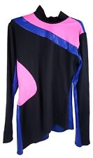 Blue/Pink/Black Dance Shirt/Costume - Women's Adult Large