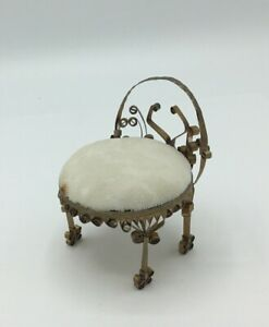 Dolls House Ornate Metal Chair