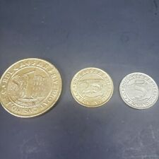 Vintage Lot of 3 Tokens Caesars Riverboat Casino Harrison County Indiana
