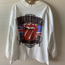 New listing Vintage 1997 Rolling Stones Bridges To Babylon Tour T Shirt 90s Long Sleeve Xl