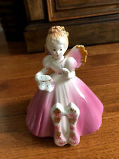Lovely Pink Josef 11th Happy Birthday Porcelain Angel Figurine Collectible (C)