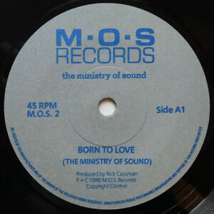 The Ministry Of Sound ‎– Born To Love 7 Inch 1986 UK Rare Indie Synth Pop