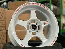 NEW 15x8J EVO Regamaster design WHITE wheel (set of 4) 4x100 Honda Toyota Kia