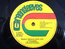 "Al Campbell ‎Really Really Love You Greensleeves UK 12"" GRED47 1981 EX"
