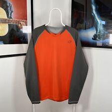 Mens FOX RACING INDICATOR Logo MTB Enduro Longsleeve Jersey - Orange/Grey - XL