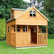 Wooden Childrens Playhouse 7x7 Outdoor Wendy House Den Apex Roof Windows 7ft 7ft