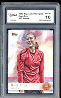 2012 Hope Solo Topps Usa Olympics Soccer Bronze Foil Rookie Gem Mint 10 #50