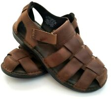 Rockport Mens Fisherman Darwyn Sandals Size 10 M  Brown Leather Shoes Ship Free