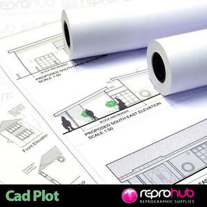 5 x A0 Plan Copier Printer Paper Rolls 80gsm 841mm x 150m oce, kip, ricoh