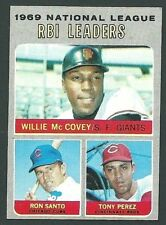 Willie McCovey / Ron Santo / Tony Perez 1970 Topps NL RBI Leaders Card #63