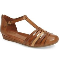 Rockport Cob Hill 235403 Women's Galway T-Strap Tan Sandals Size 9 M (EUR 40)