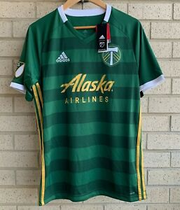 Adidas MLS Portland Timbers Alaska Airlines Climalite Jersey Shirt Men's M - NWT