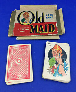 Vintage Whitman OLD MAID Cards 1940's – Incomplete 41 Cards