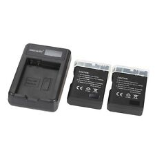 LED Power Charger + 2pcs 1200mAh EN-EL14 Li-ion Batteries for Nikon Cameras