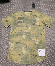 Under Armour Men's Project Rock Veteran's Day Graphic T-Shirt S M L XL 2X Camo