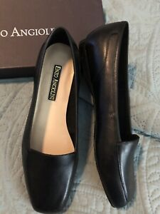 ENZO ANGIOLINI FLAT PUMPS. BLACK NEW IN BOX 8W